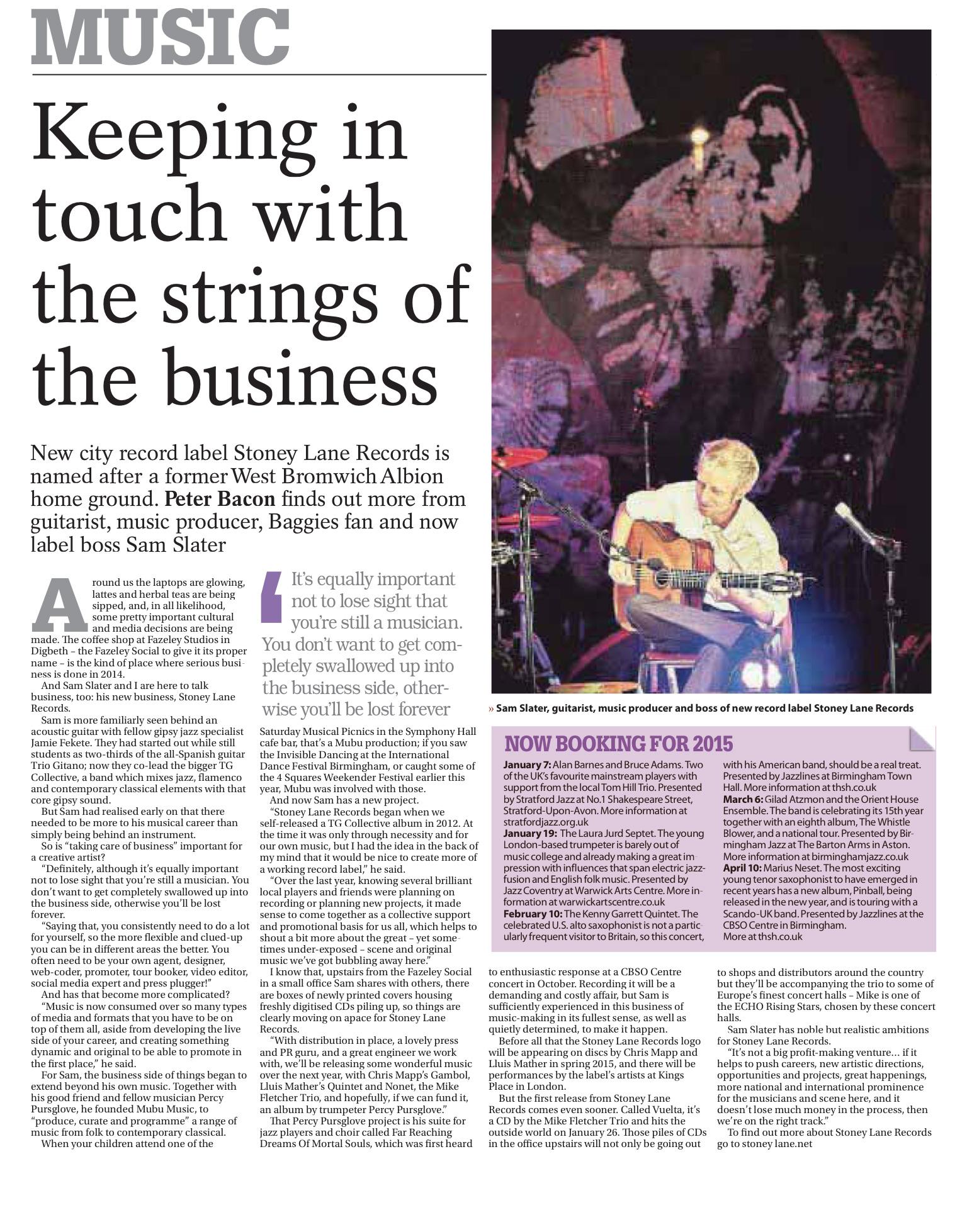 Stoney Lane Records Birmingham Post