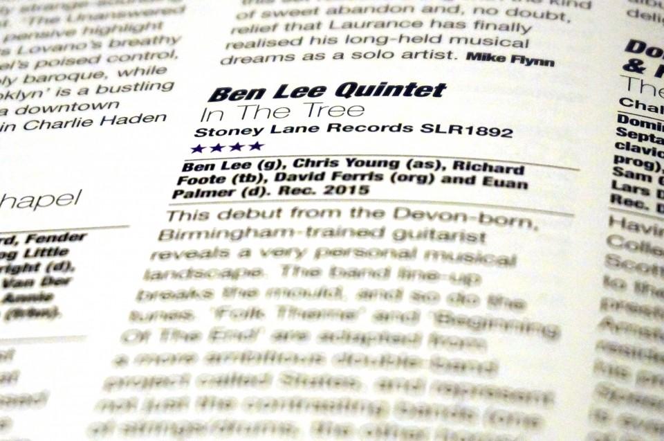 Ben Lee Quintet Jazzwise
